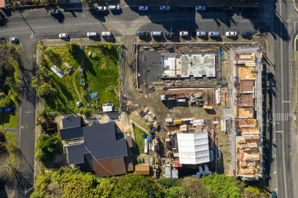 Dunedin High Street Co-housing passive house construction site